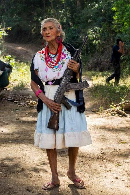Female Mexican vigilante